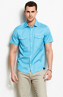 Short Sleeve Dobby Utility Shirt