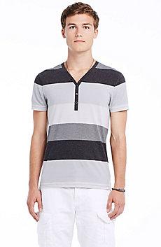 Bold Stripe Cotton Henley