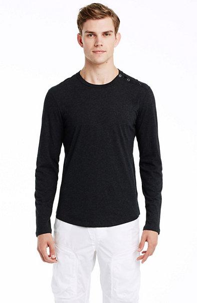 Pima Cotton Button Shoulder Shirt