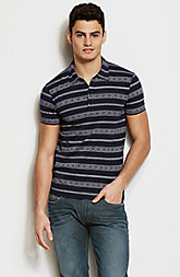 Jacquard Patterned Polo