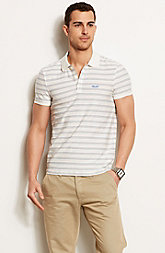 Neon Striped Polo