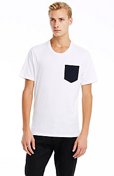Contrast Pocket Pima Cotton Crew
