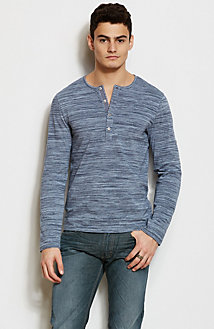 Space Dye Henley