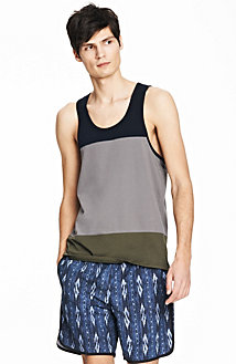 Colorblock Pima Tank