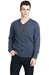 Elbow Patch Knit Cardigan