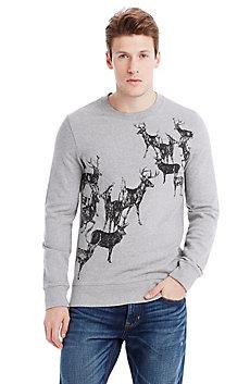 Deer Print Sweatshirt