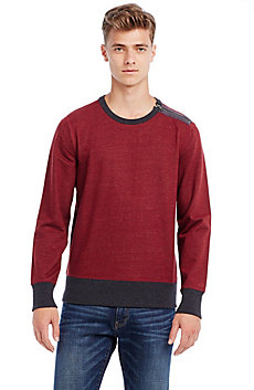 Contrast Zip Shoulder Sweatshirt