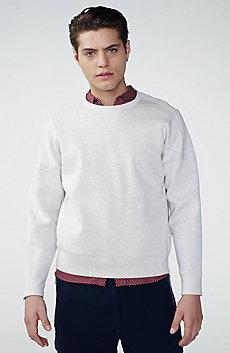 Faux-Suede Sweatshirt