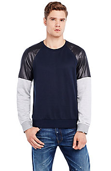 Woven Sleeve Sweatshirt