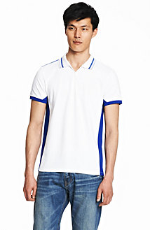 Mesh Stripe Polo