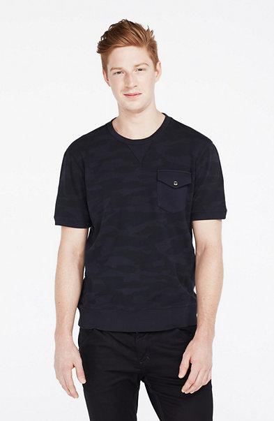Camouflage Short-Sleeve Sweatshirt