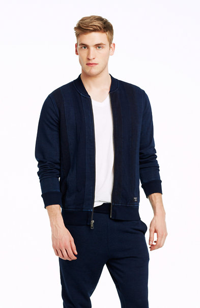 Indigo Zip-up Jacket