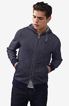 Tab Collar Full-Zip Hoodie