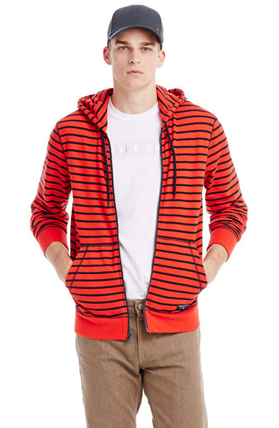 Striped Fleece Hoodie