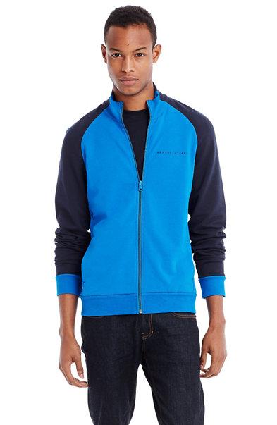 Colorblock Mockneck Jacket