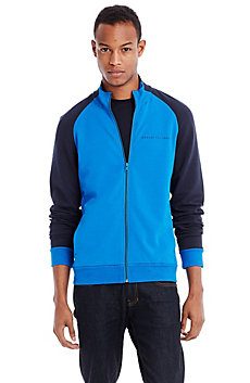 Colorblock Mockneck Jacket