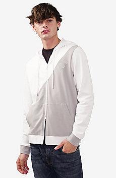Contrast Block Logo Hoodie Jacket