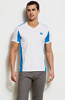 Colorblock Slub V-Neck