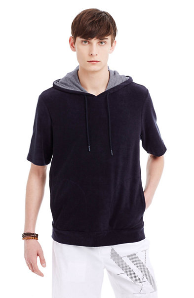Short-Sleeve Hooded Sweatshirt