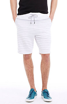 Blended Pinstriped Stretch Cotton Short