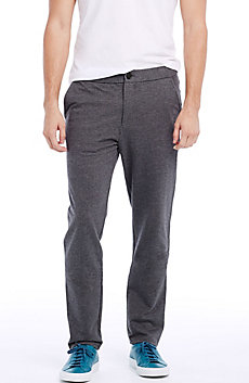 Fleece Flat-front Pants