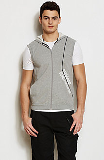 Linear Logo Hooded Vest
