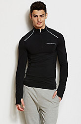 Performance Mesh Mockneck Top