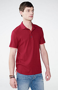 Two-Layer Shirttail Polo