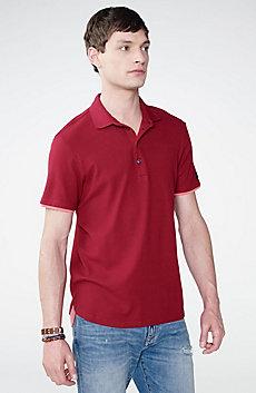 Two-Layer Shirttail Polo