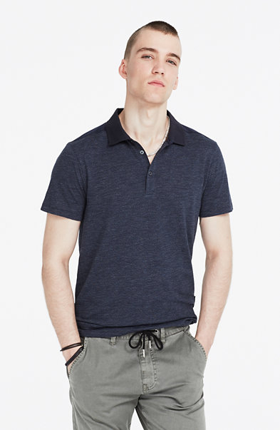 Pieced Shoulder Polo