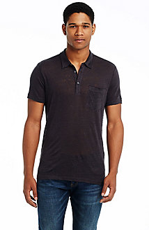 Short Sleeve Raw Edge Polo