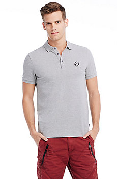 Short Sleeve Eagle Patch Polo