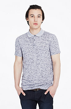 Raw Edge Marled Polo