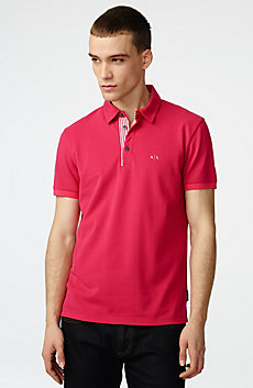 Contrast Placket Pique Polo