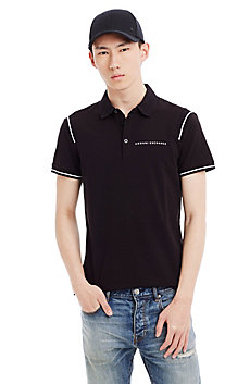Stretch Cotton Logo Polo