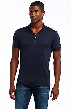 Silk & Cotton Short Sleeve Polo