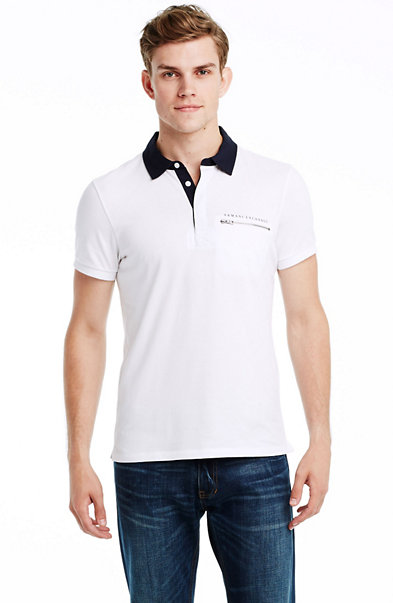 Short Sleeve Zip Pocket Polo