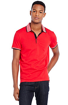 Contrast Stripe Polo