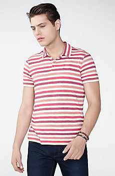 Modern Stripe Polo Shirt