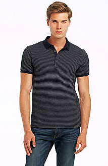 Short Sleeve Stripe Pique Polo<br>Online Exclusive