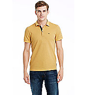 Short Sleeve Stripe Pique Polo