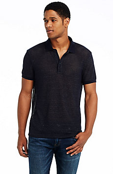 Stripe Mesh Polo