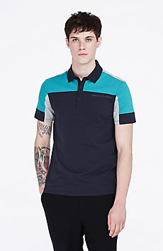 Colorblock Logo Polo