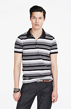 Blended Striped Polo