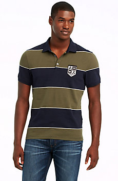 Yarn-dyed Short Sleeve Stripe Polo