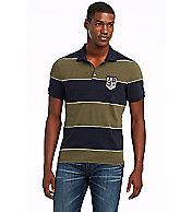 Yarn-dyed Short Sleeve Stripe Polo