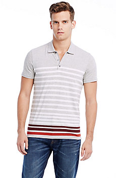 Short Sleeve Contrast Stripe Polo