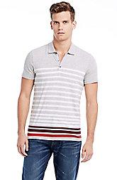 Short Sleeve Contrast Stripe Polo