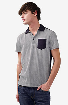 Pattern Block Pocket Polo