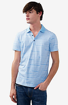 Interrupted Stripe Polo